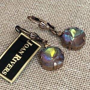 NWT Joan Rivers Crystal Drop Earrings